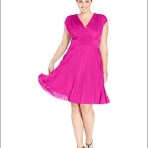 Berry/wine Soprano pleated dress